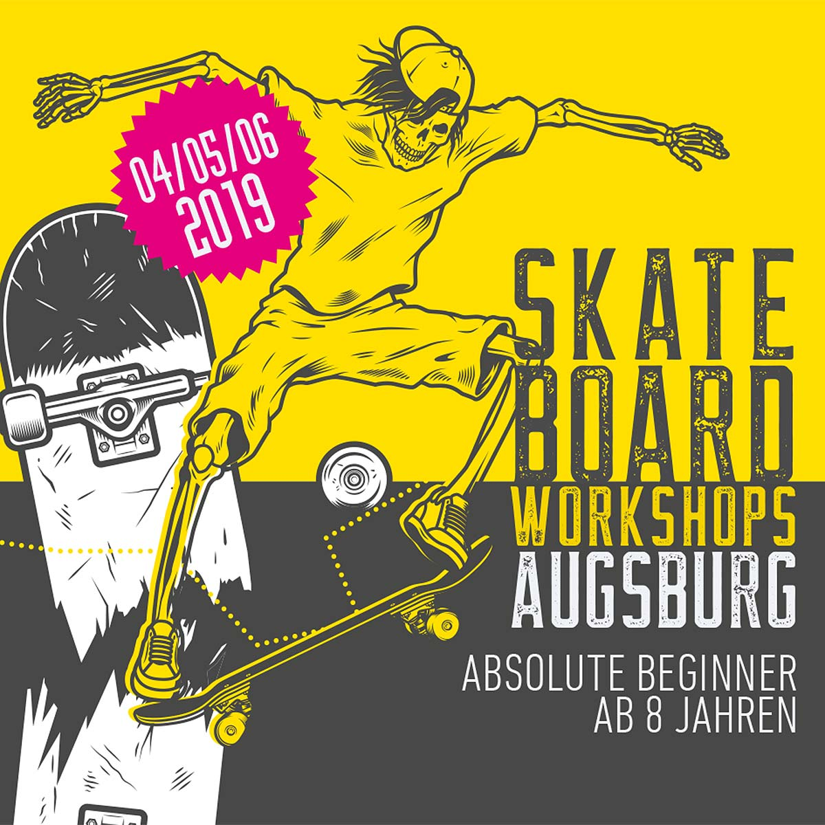 Razed Flyer Workshops Skatepark Augsburg Inningen